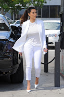 Kim Kardashian  looking gorgeous in white outfit