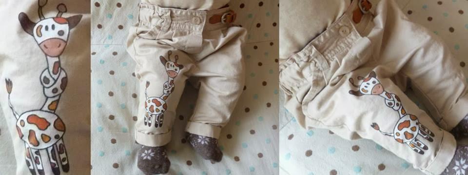 malované kalhoty pro miminka