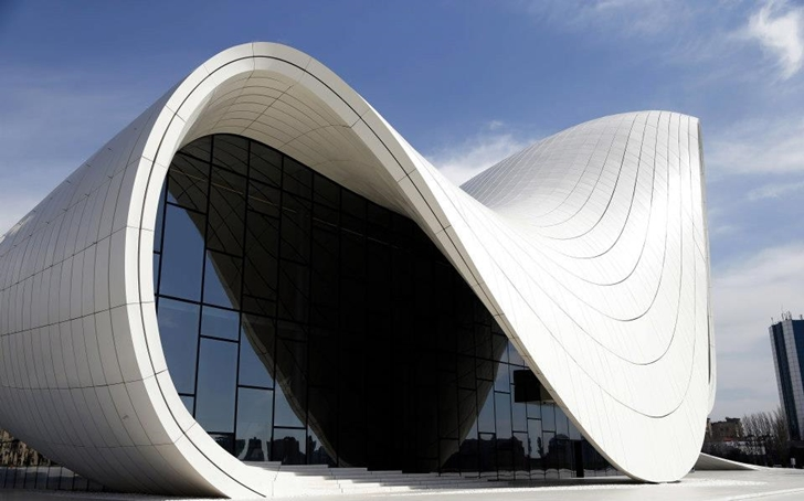 Facade of Heydar Aliyev Cultural Center by Zaha Hadid Architects