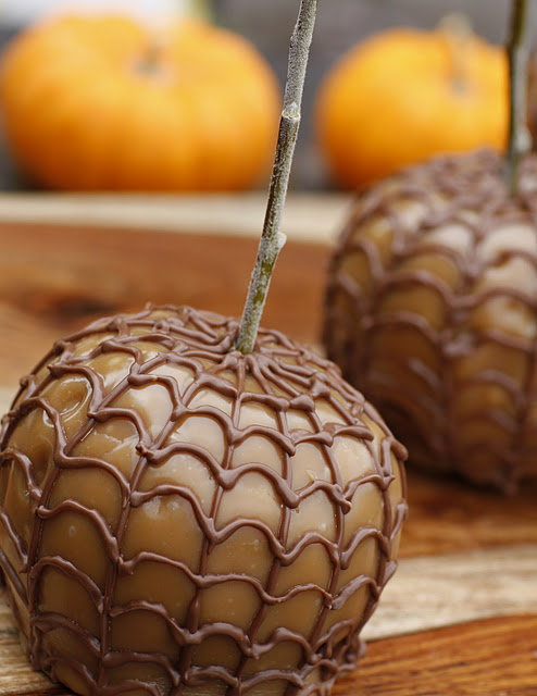 caramel apple creations spider web apples