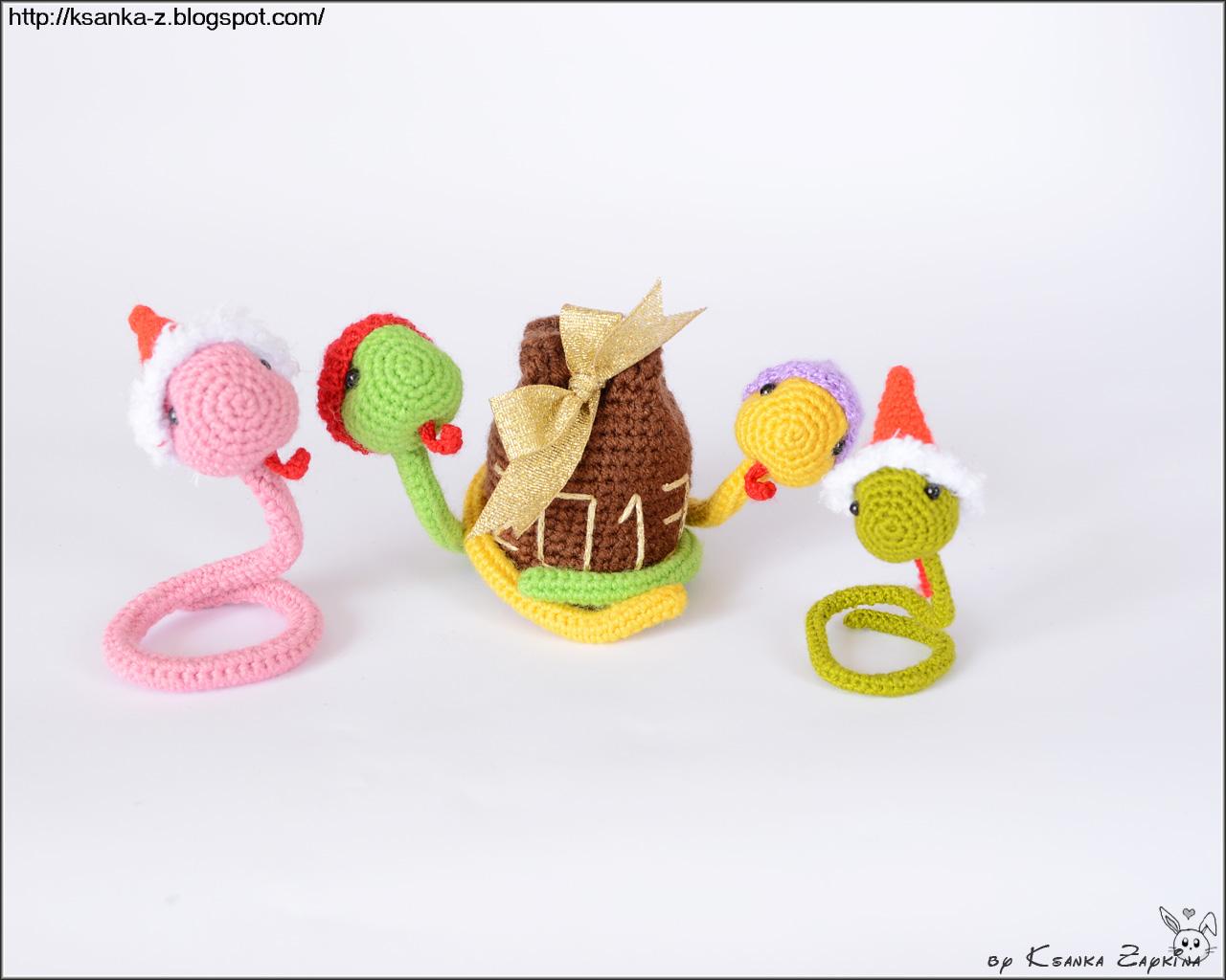 вязаные змеи, амигуруми, вязаные игрушки, змеи крючком, игрушки крючком