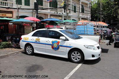 Thailand Tourist Police Car Toyota Corolla Altis