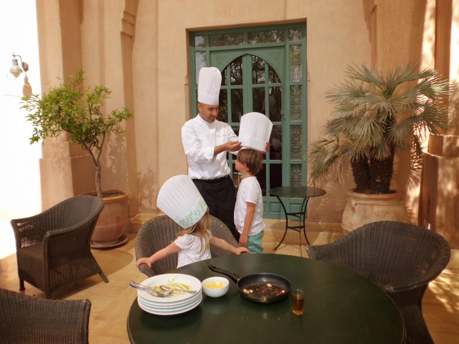 Atelier cuisine pour enfants - Hôtel Les Deux Tours - Marrakech