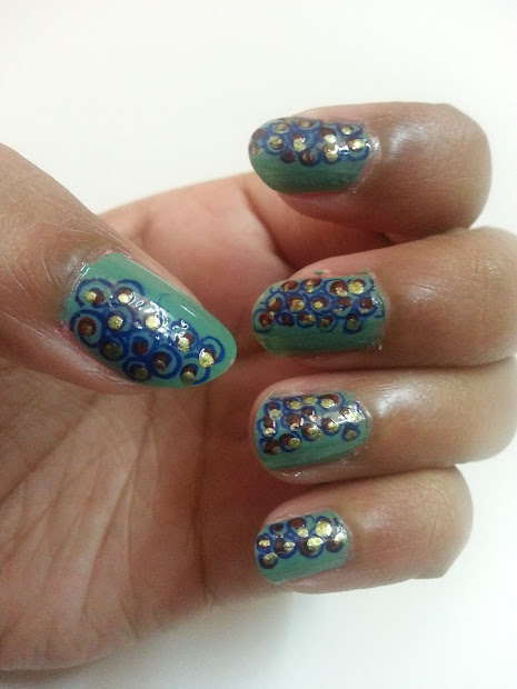 create awesome teal nails
