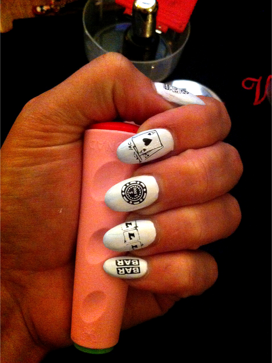 Casino Themed Nail Art Pamper And Curves