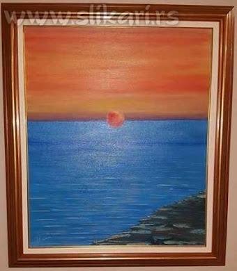 SUTON-60 cm x 50 cm umetnička slika-ulje na platnu-