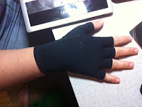 compression glove, stress-relief glove, wrist pain relief