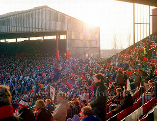 The Stretford End in 1990