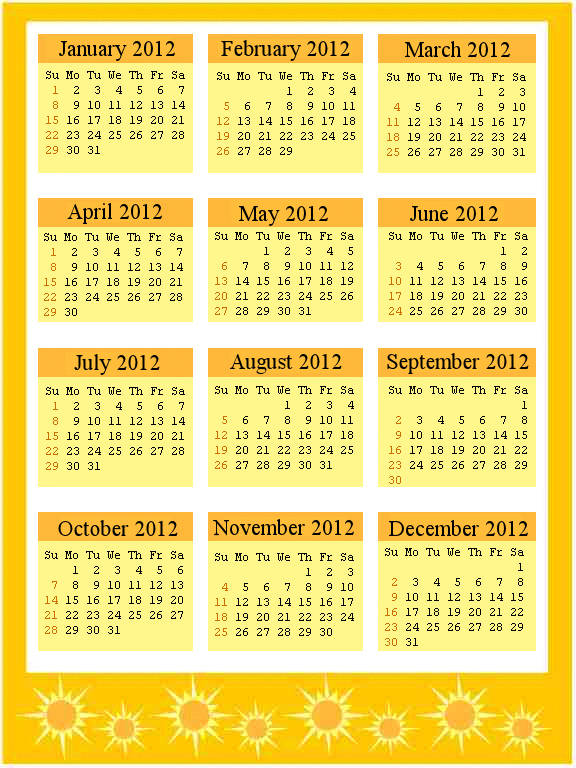 New Year Calendar Designs : Happy new year calendar design mobile