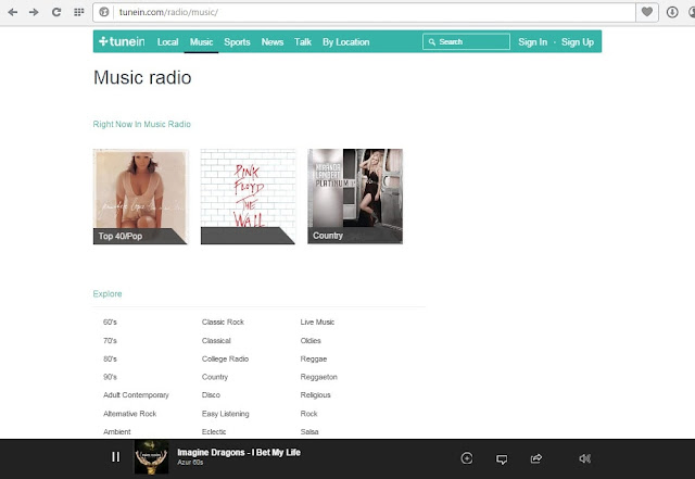 TuneIn free radio station