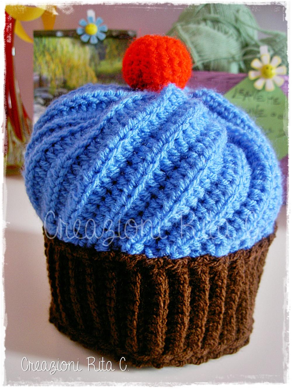 Creazioni Rita C Only Handmade Cappello Cupcake A Uncinetto
