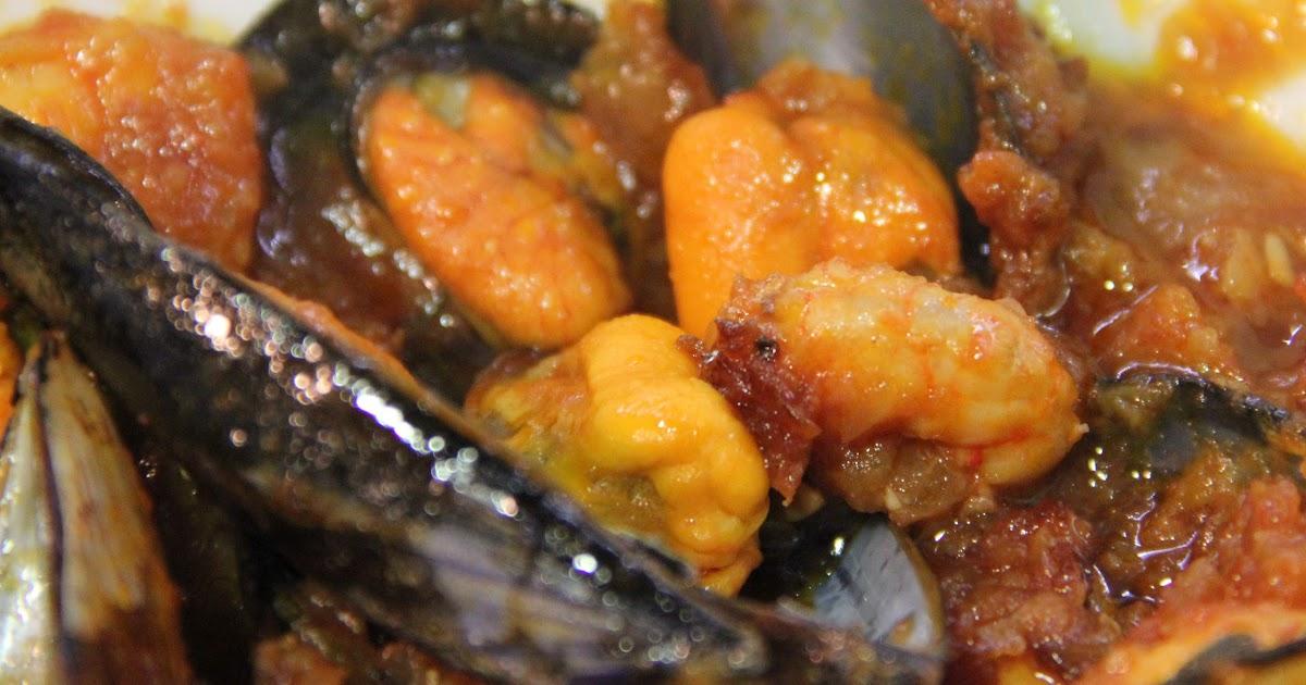 Cocina mientras lo inventas mejillones con salsa de gambas for Cocinar mejillones en salsa