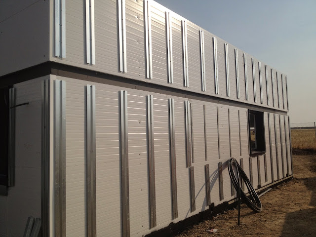 Subestructura fachada ventilada vivienda modular - Resan