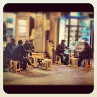Men Drinking Tea in Beyoglu