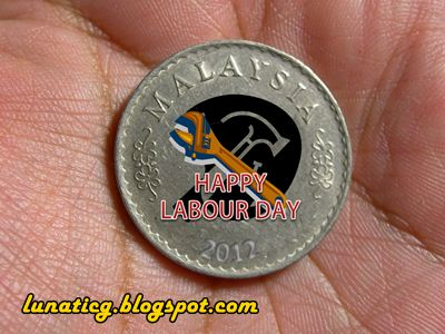 Labour day coin