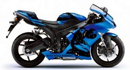 gambar stiker motor sport keren