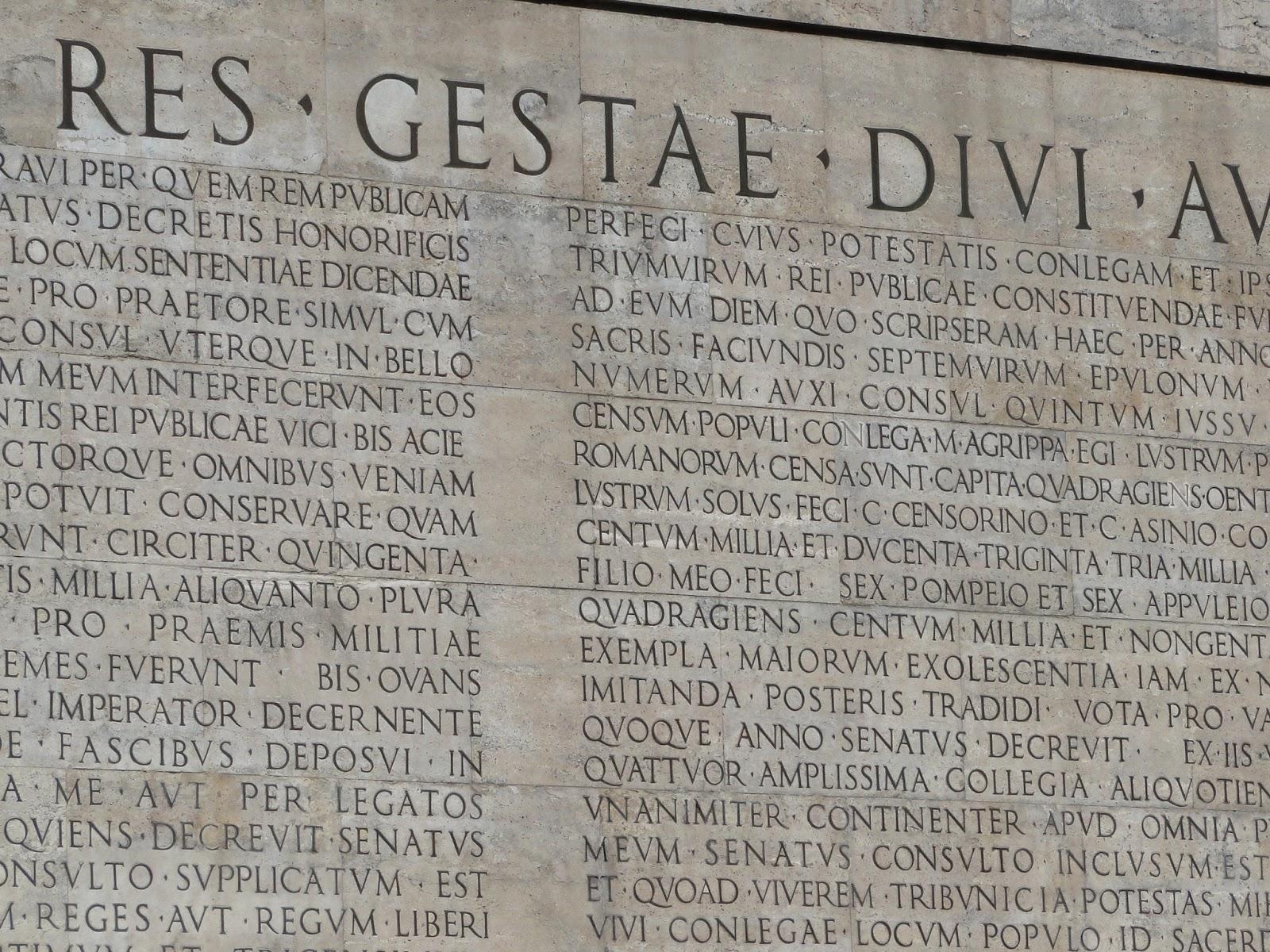 Undergraduate ancient history blog res gestae divi - Res gestae divi augusti ...