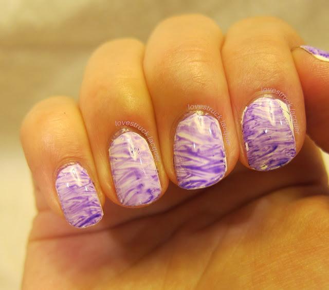Lovestruck Lacquer: Fan Brush Nail Art