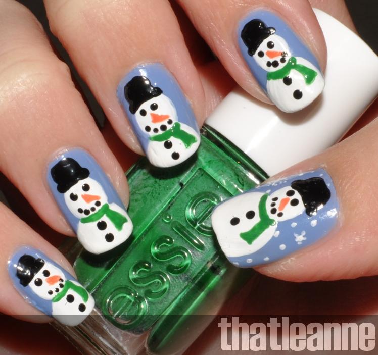 Thatleanne Chococat Nail Art: Thatleanne: Snowman Nail Art How To