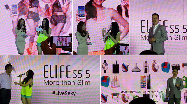 Ellen Adarna on World's Slimmest Smartphone Gionee ELIFE S5.5 Debutes in the Philippines