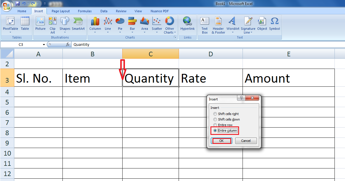 Learn New Things Ms Excel Shortcut Key How To Insert