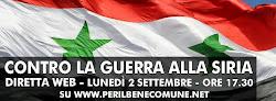 Contro la guerra in Siria -