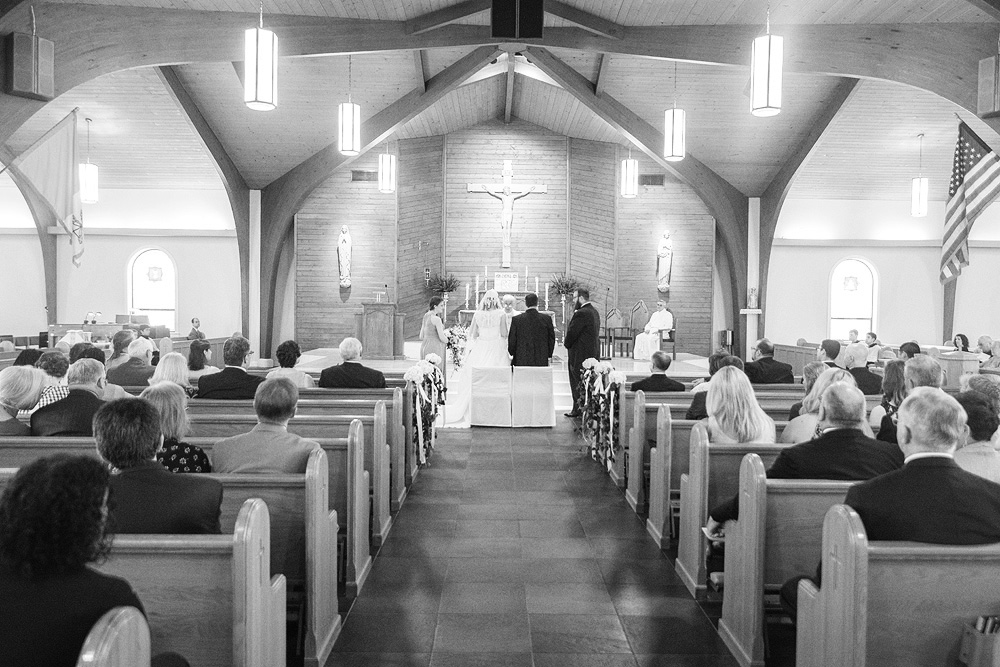 wedding photography at st. william of york in stafford