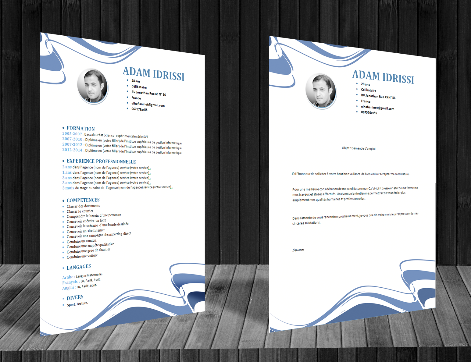 comment faire un cv  model cv format word style abstract
