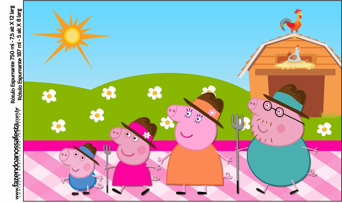 peppa pig at the farm free printable candy bar labels is it