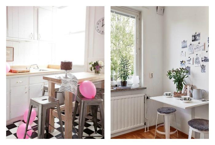 Una pizca de hogar 14 trucos para crear una zona de comer en la cocina - Cocina office ...