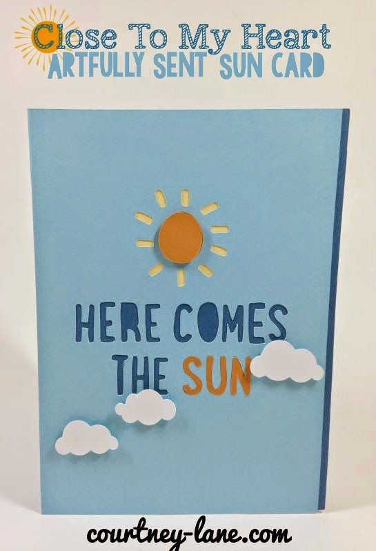 Close To My Heart Artfully Sent Cricut cartridge Sun card