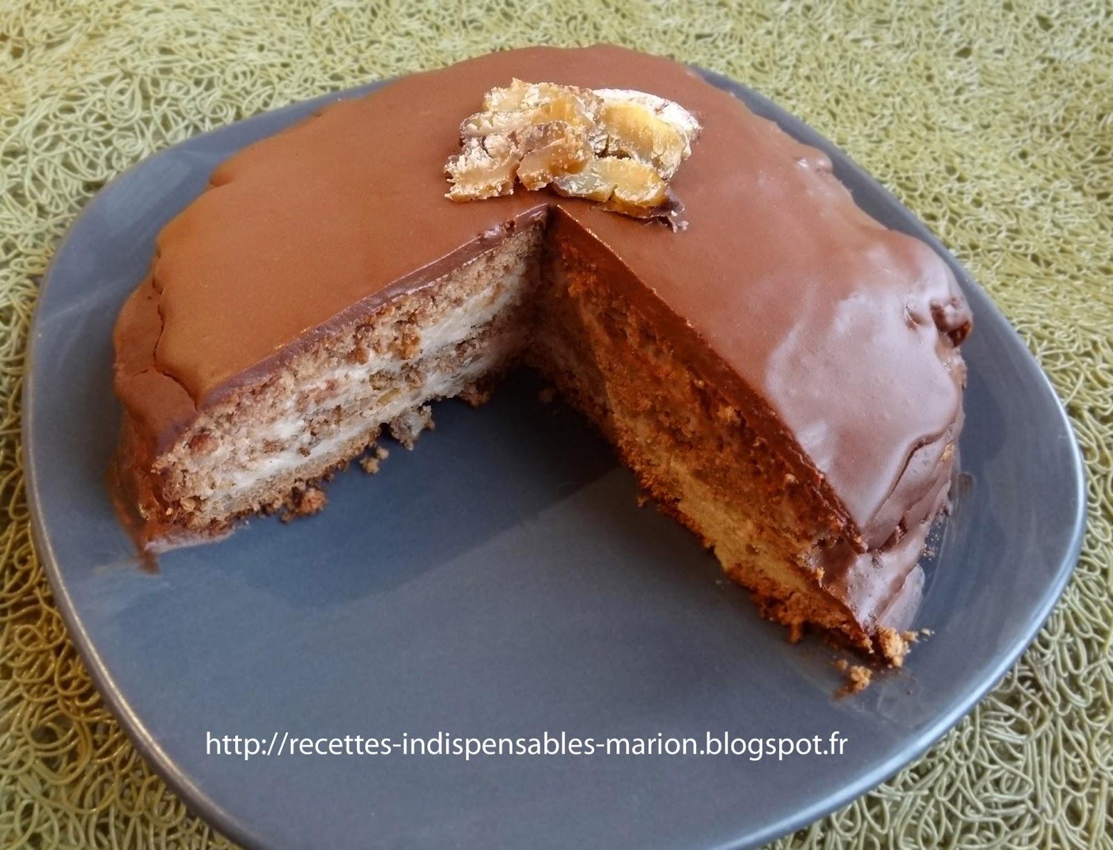 Les recettes indispensables de marion g teau la cr me - Recette gateau chocolat creme de marron ...