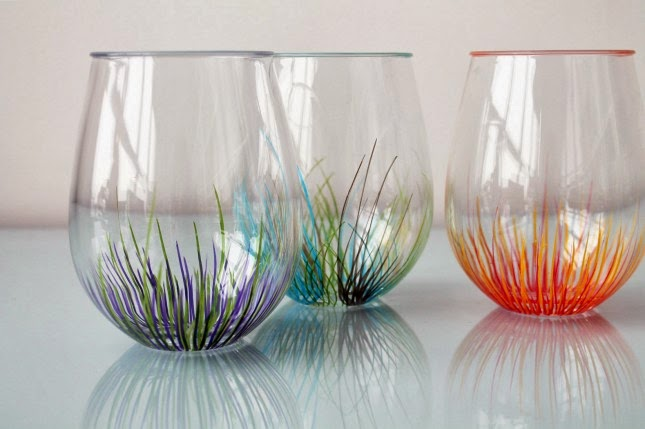 Spring glass painting