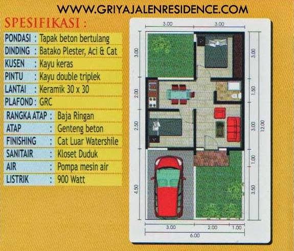 Spesifikasi Rumah Type 38/72 Minimalis