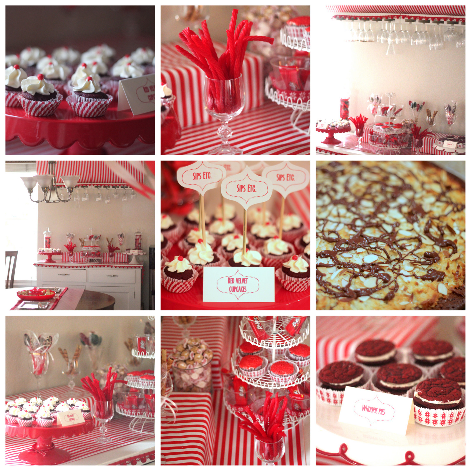 sips etc. red-and-white blog launch party!