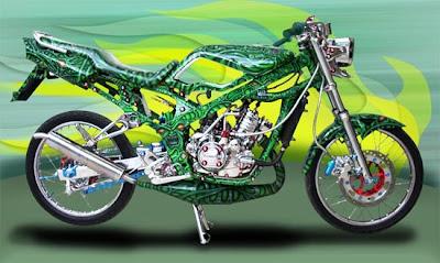 Foto Motor Modifikasi Ninja