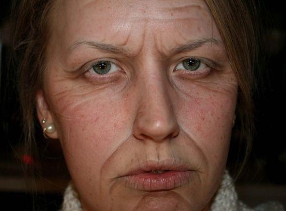 Sandra Holmbom auto-maquiagens criativas e bizarras Velhinha