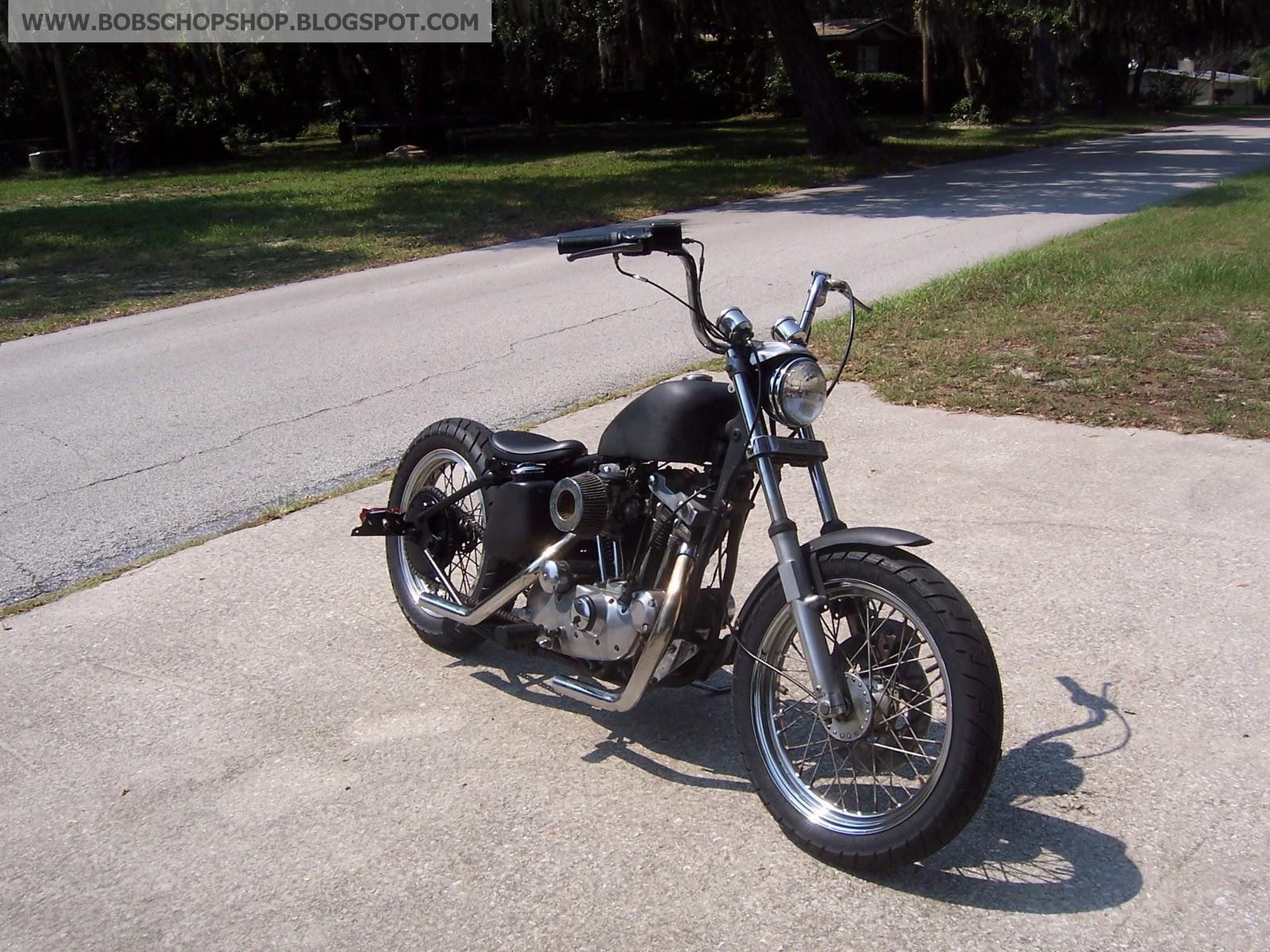 bobs chop shop 1977 harley ironhead sportster chopper bobber build