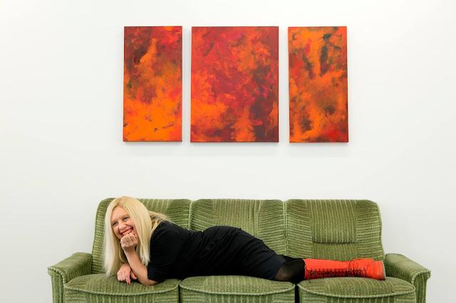 Foto: ONA B. in der Artothek Niederösterreich, 2014 © Andrea Palasti