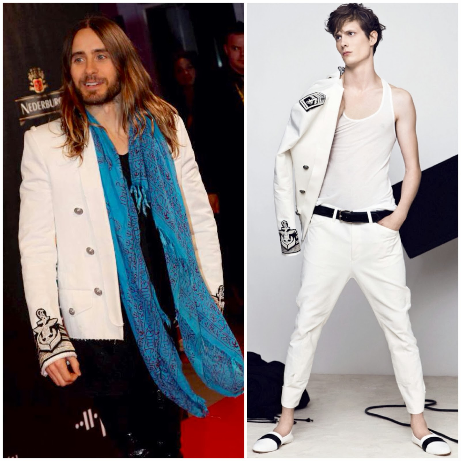 Jared Leto in Balmain - 30 Seconds To Mars Appearance in Helsinki