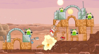 Screenshot AngryBirds StarWars Full Version 1