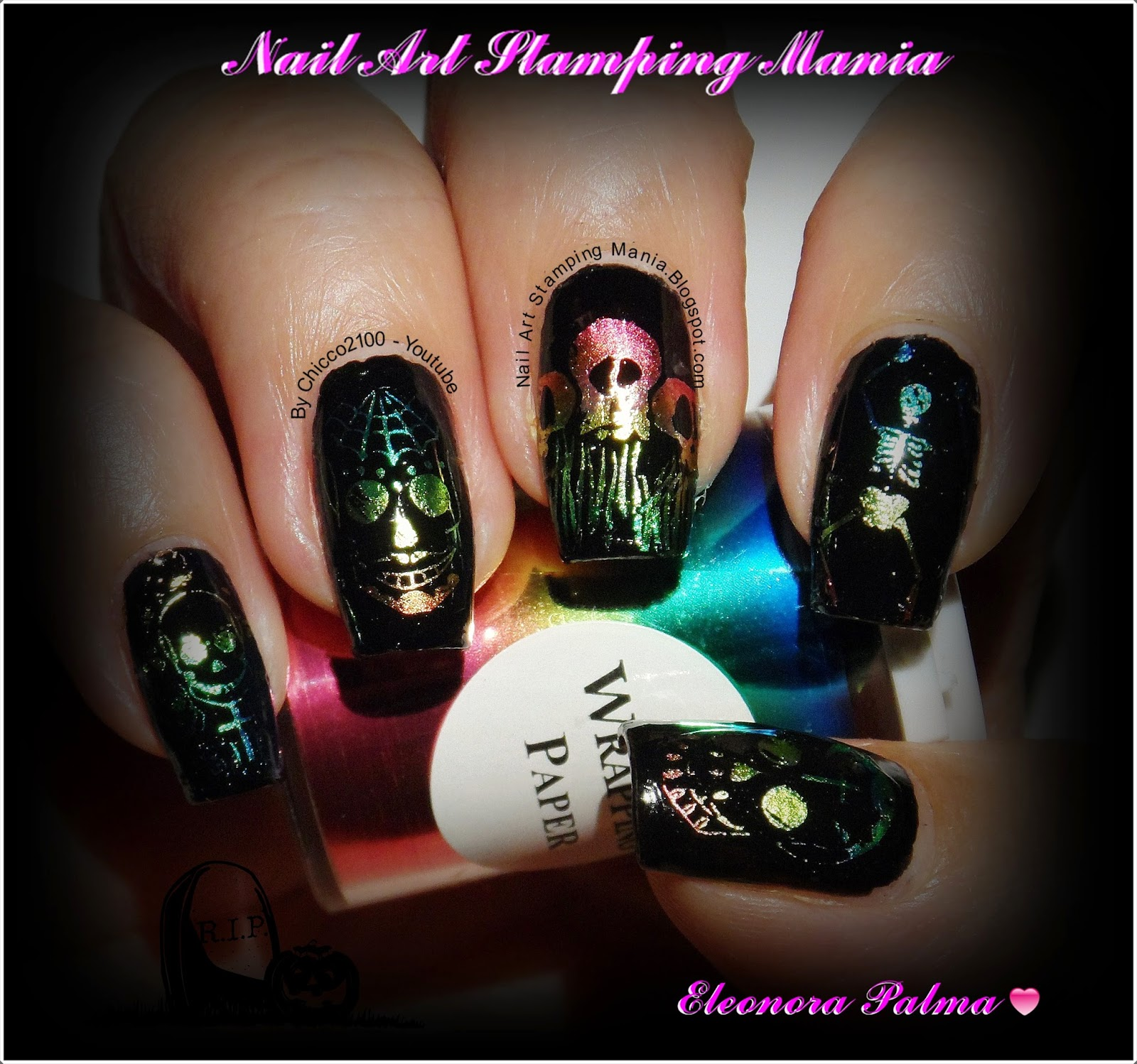 Nail Art Stamping Mania Bundle Monster Challenge Death