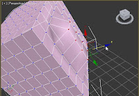 Moviendo vértices con referencia local en 3ds max.