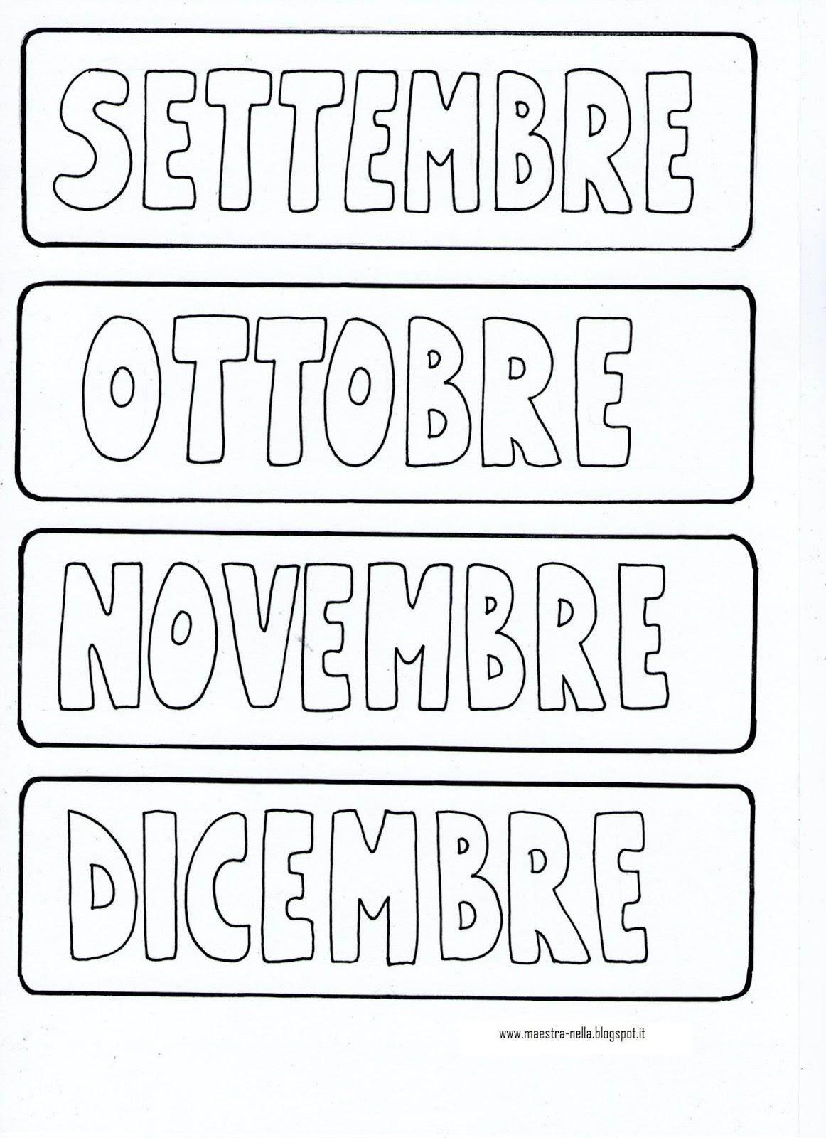 Favorito maestra Nella: Il calendario VB48