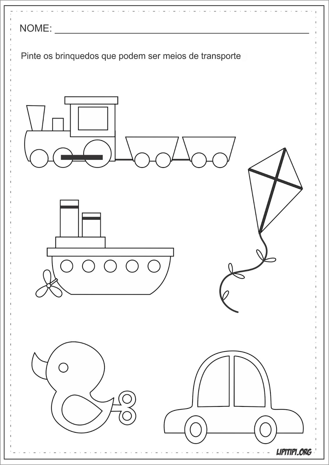 Top Lipitipi- Atividades e Projetos Fundamental I: Meios de Transporte  QH61