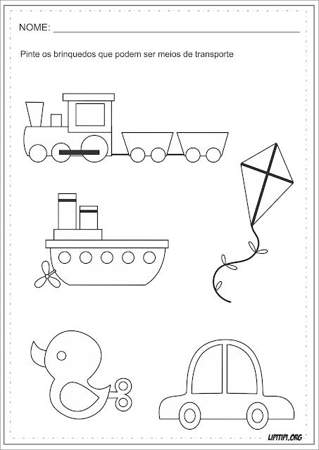 Meios de Transporte Atividades Dia das Crianças