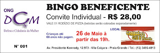 CONVITE: ONG DCM promove Bingo Beneficente. Participe!