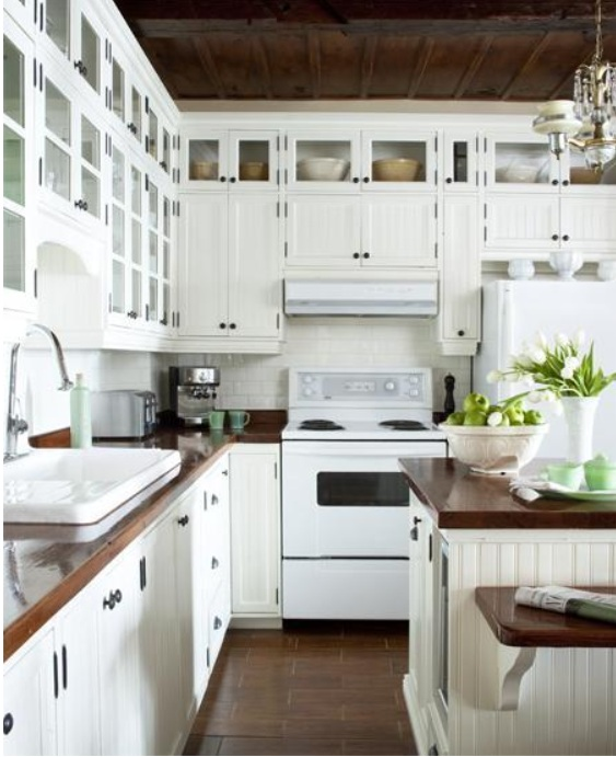 White Kitchen Vs Wood sugar & spice in the land of balls & sticks: cottage kitchens