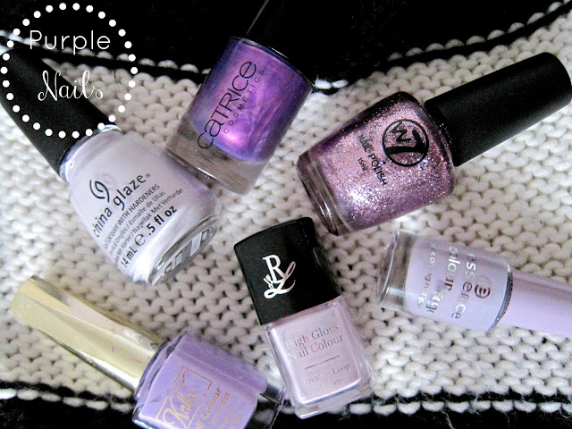 Catrice Heavy Metallilac , China Glaze Light as Air and the W7 Cosmic Mauve. essence no more drama rival de loop 22 swatches