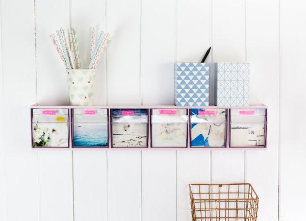 Ordnung im Arbeitszimmer selbstgemacht: DIY Kleinteileregal